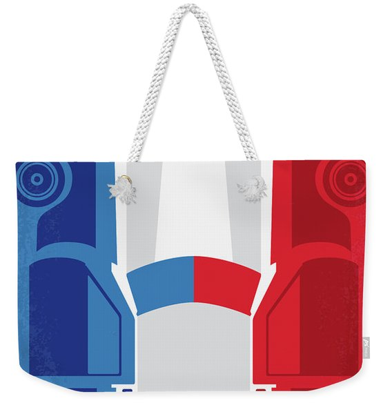 No982 My The French Connection Minimal Movie Poster Weekender Tote Bag