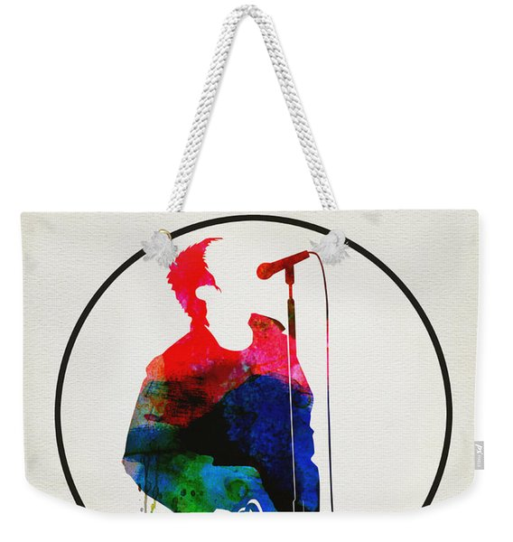 Noel Gallagher Watercolor Weekender Tote Bag
