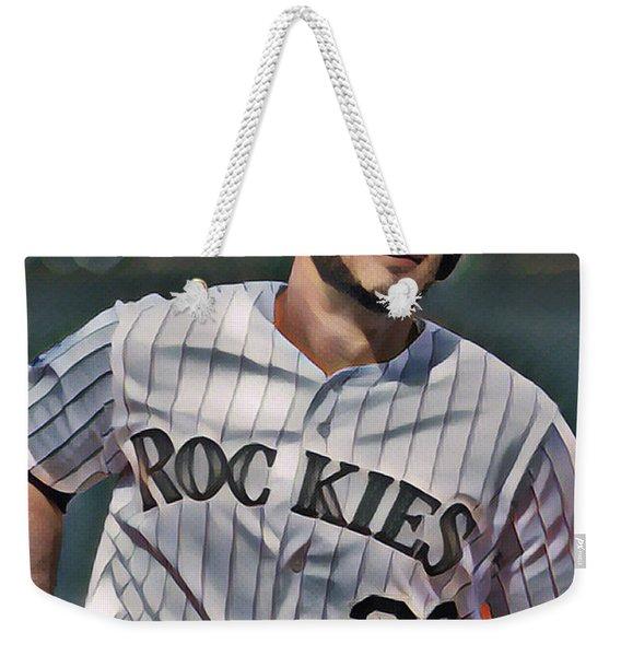 Nolan Arenado Colorado Rockies Abstract Art 1 Weekender Tote Bag