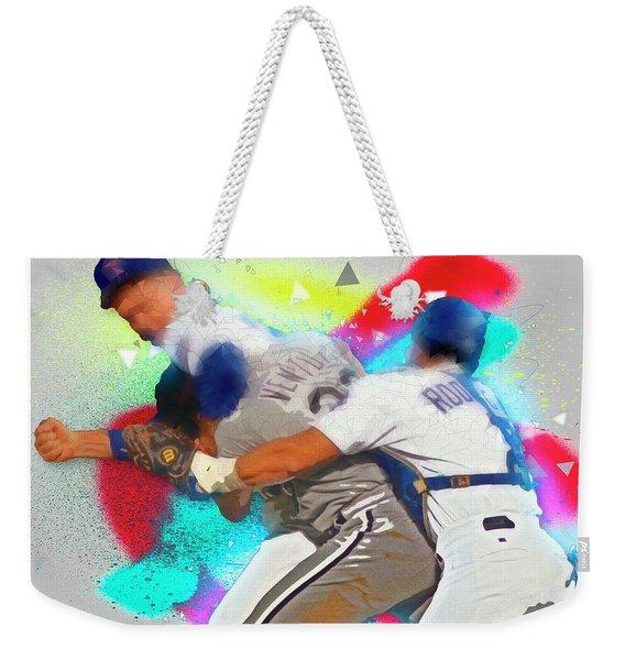 Nolan Ryan, Robin Ventura Brawl Weekender Tote Bag