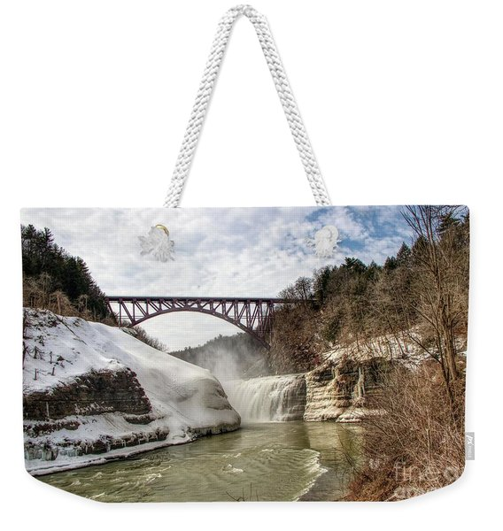 Winter At Letchworth State Park Weekender Tote Bag