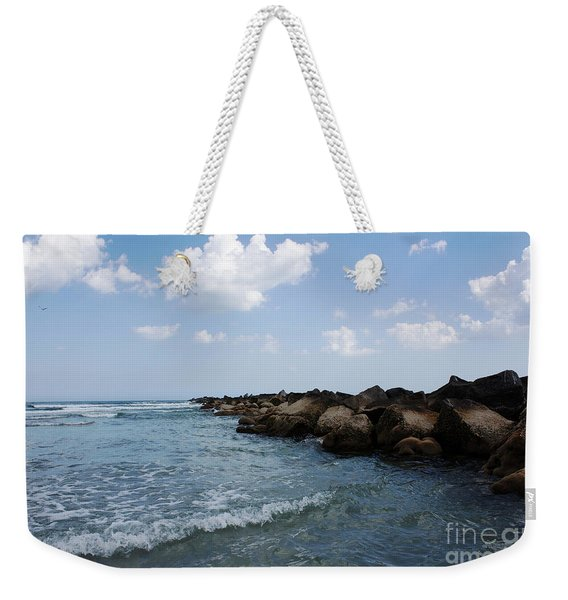 North Beach Jetty Weekender Tote Bag