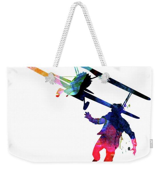 North By Northwest Watercolor Weekender Tote Bag