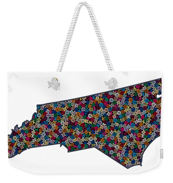 North Carolina Map - 1 Weekender Tote Bag