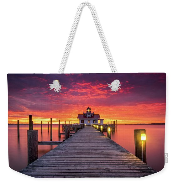 North Carolina Outer Banks Manteo Lighthouse Obx Nc Weekender Tote Bag