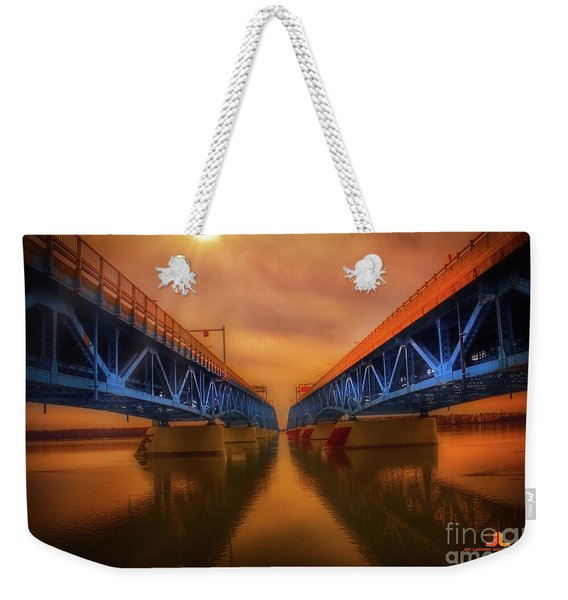 North Grand Island Bridge Weekender Tote Bag