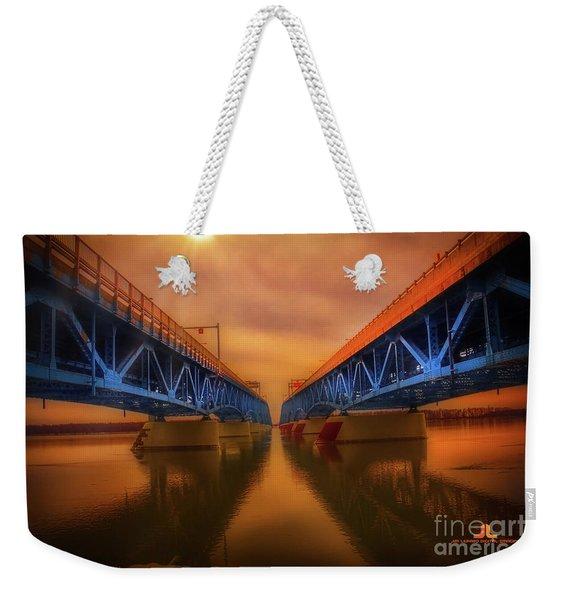 North Grand Island Bridge Weekender Tote Bag