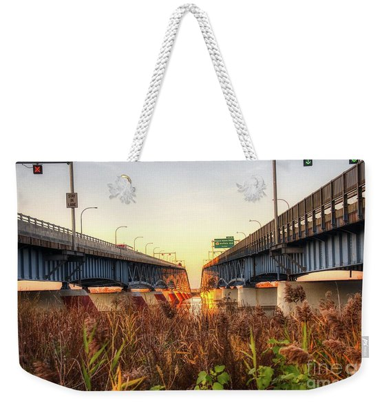 North Grand Island Bridges Weekender Tote Bag