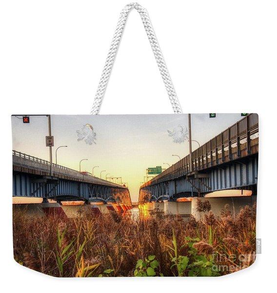 North Grand Island Bridges Weekender Tote Bag
