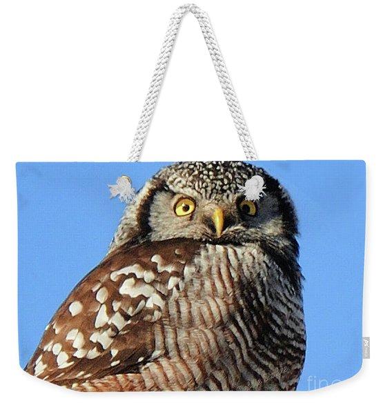 Northern Hawk-owl Weekender Tote Bag