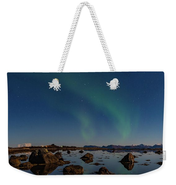Northern Lights Over A Swamp  Weekender Tote Bag
