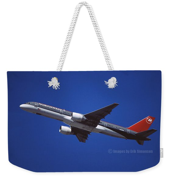 Northwest Airlines Boeing 757-251 Weekender Tote Bag