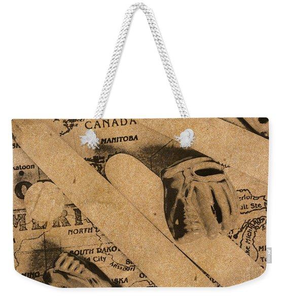 Nostalgic Baseball Weekender Tote Bag