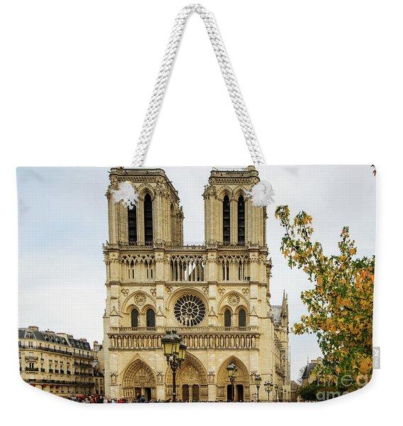 Notre Dame Cathedral Paris France Weekender Tote Bag