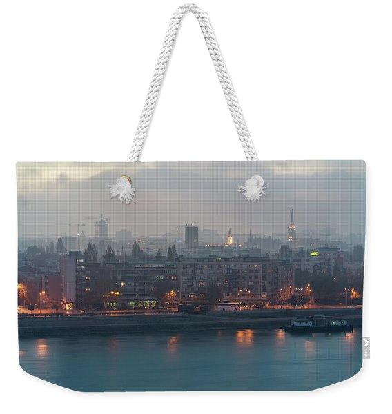 Novi Sad Night Cityscape Weekender Tote Bag
