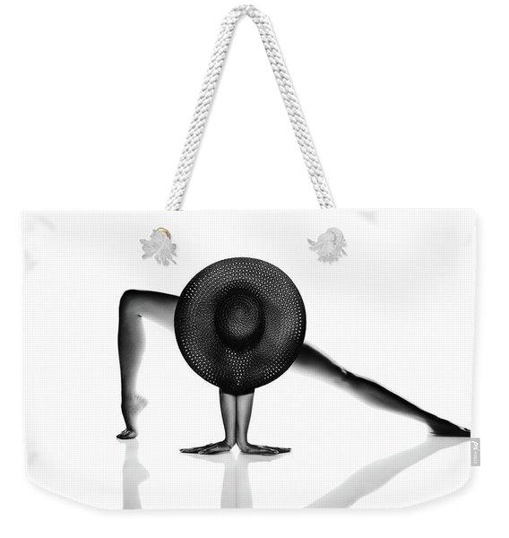 Nude Woman Black Hat Weekender Tote Bag