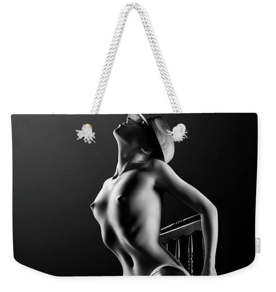 Nude Woman On Chair 2 Weekender Tote Bag