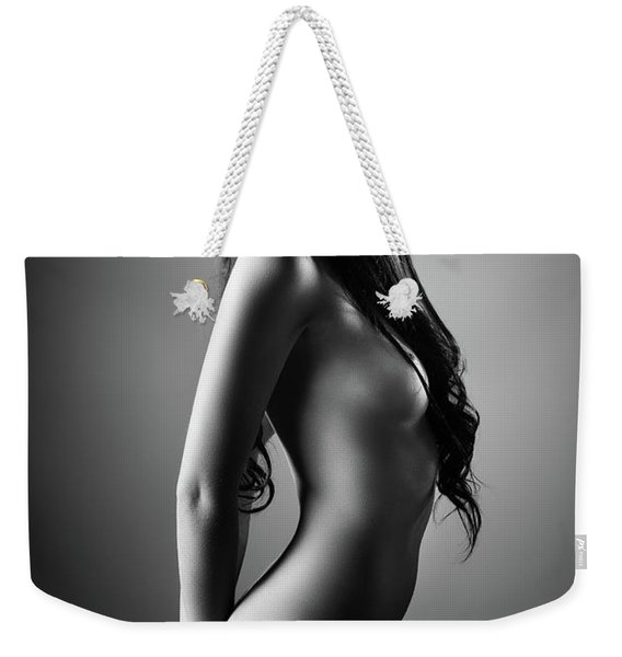 Nude Woman With A Hat Weekender Tote Bag
