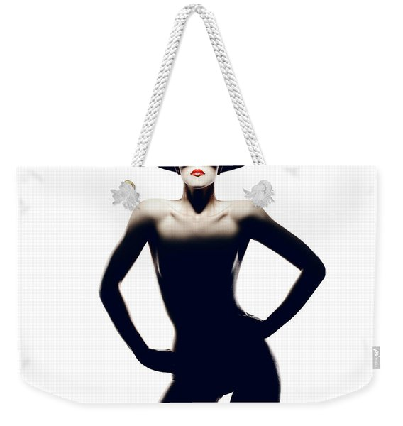 Nude Woman With Hat Weekender Tote Bag