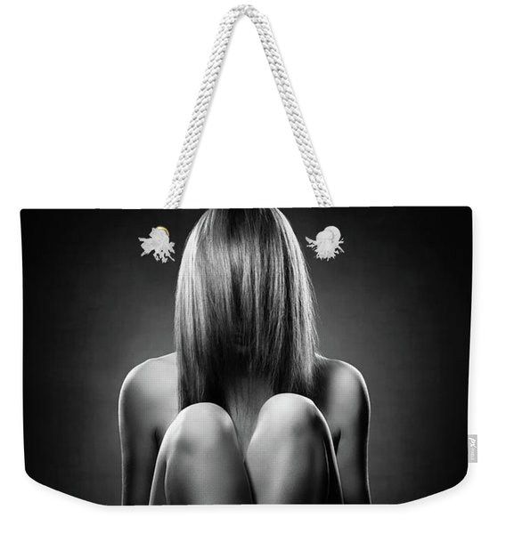 Nude Woman With Hidden Face Weekender Tote Bag