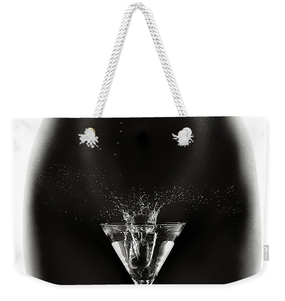 Nude Woman With Martini Splash Weekender Tote Bag