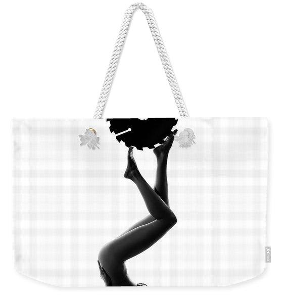 Nude Woman With Saw Blade 2 Weekender Tote Bag