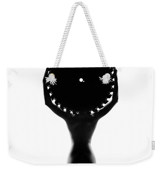 Nude Woman With Saw Blade 3 Weekender Tote Bag