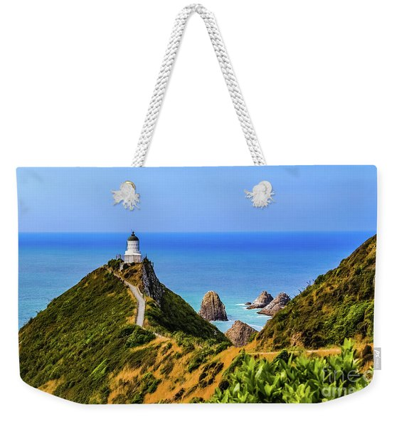 Nugget Point Lighthouse, New Zealand Weekender Tote Bag