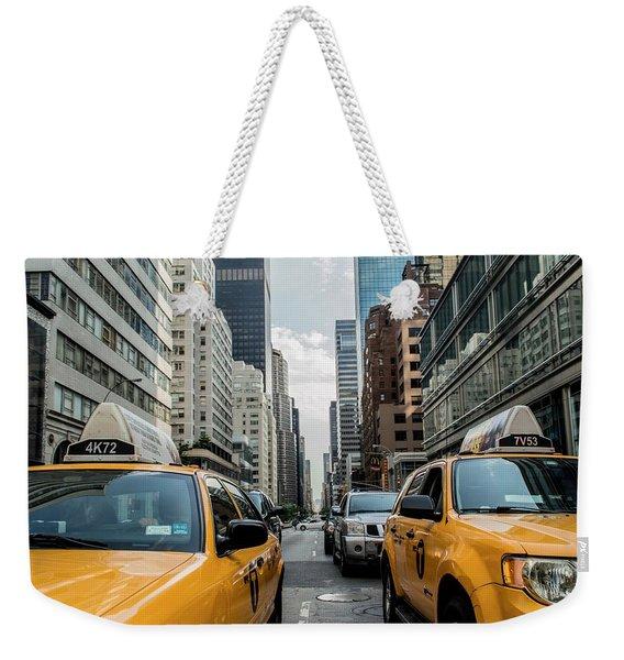 Ny Taxis Weekender Tote Bag