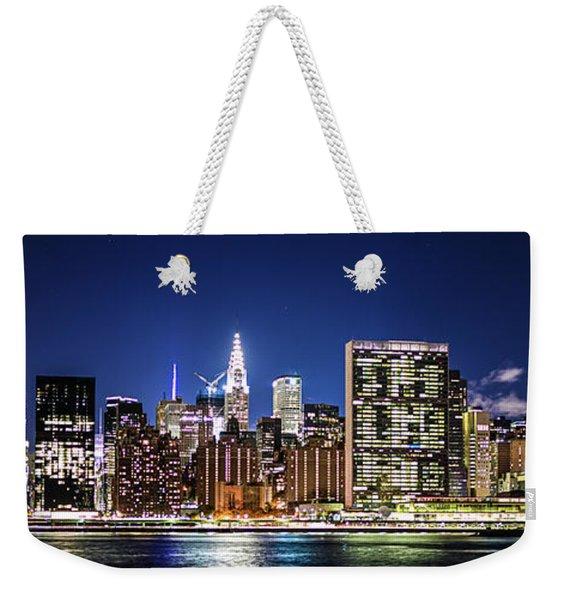 Nyc Nightshine Weekender Tote Bag