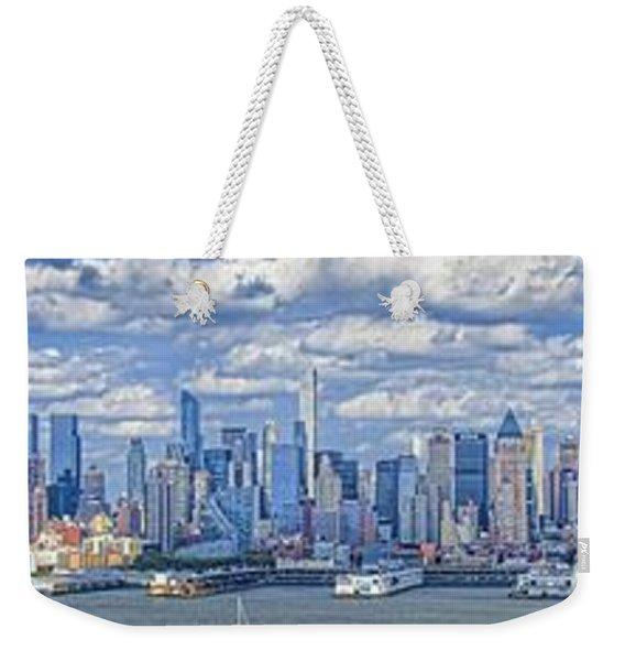 Nyc Skyline Weekender Tote Bag