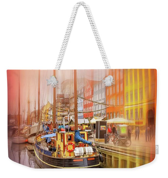 Nyhavn District Copenhagen Denmark Weekender Tote Bag