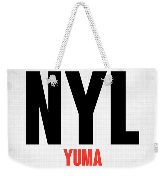 Nyl Yuma Luggage Tag I Weekender Tote Bag
