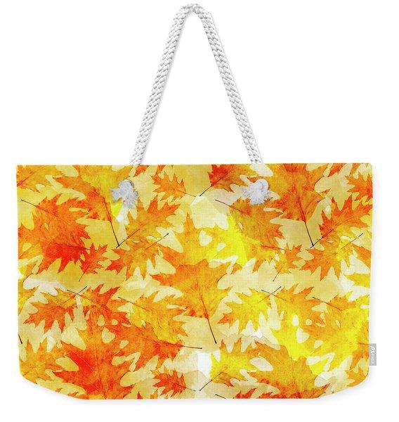 Oak Leaf Pattern Weekender Tote Bag