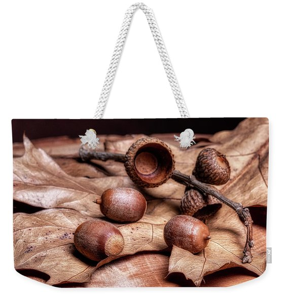 Oak Tree Macro Weekender Tote Bag
