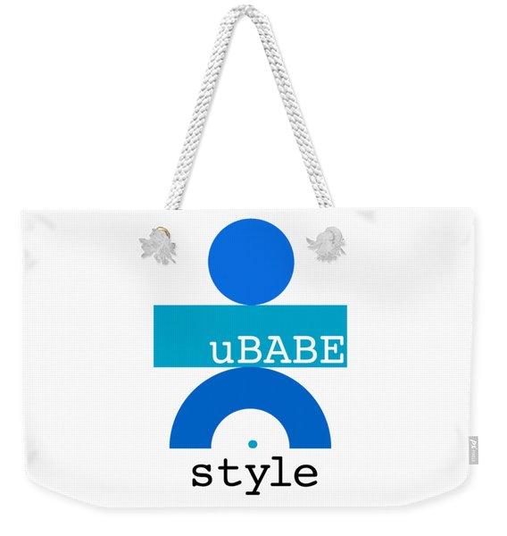 Ocean Blue Babe Weekender Tote Bag