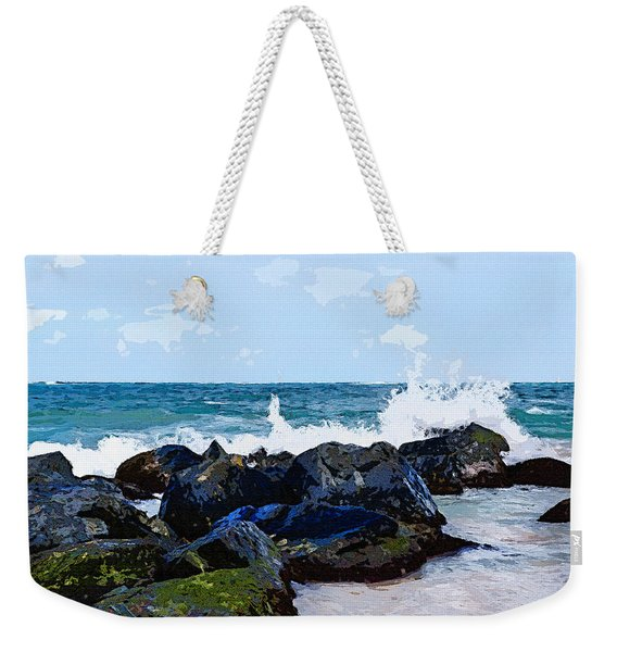 Ocean Meets The Coast Weekender Tote Bag