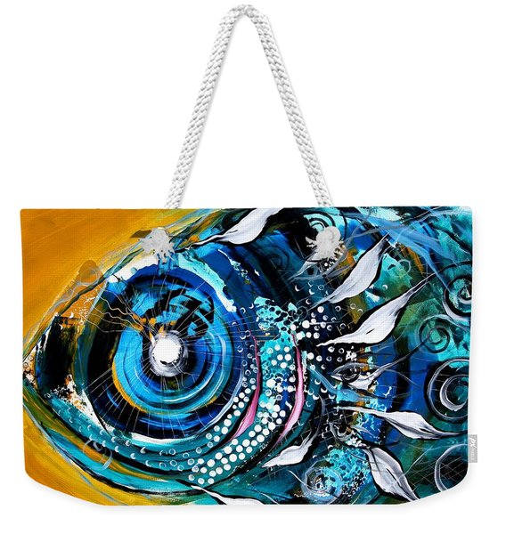 Ochre Fish Four Weekender Tote Bag