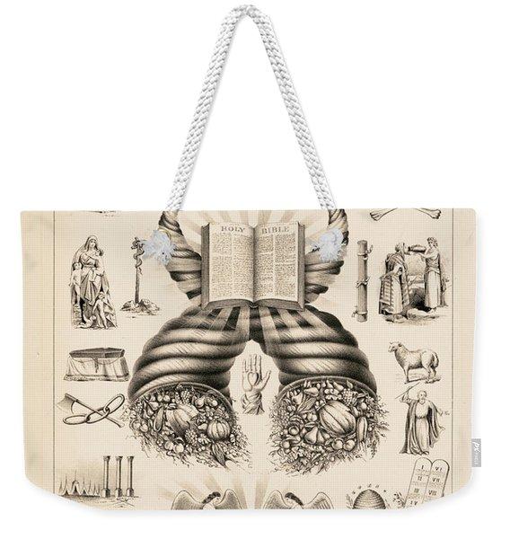 Odd-fellows Chart, 1877 Weekender Tote Bag