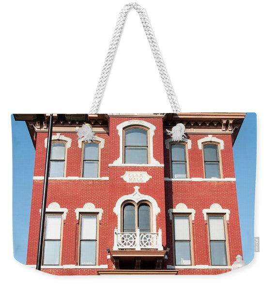 Odd Fellows Hall Weekender Tote Bag