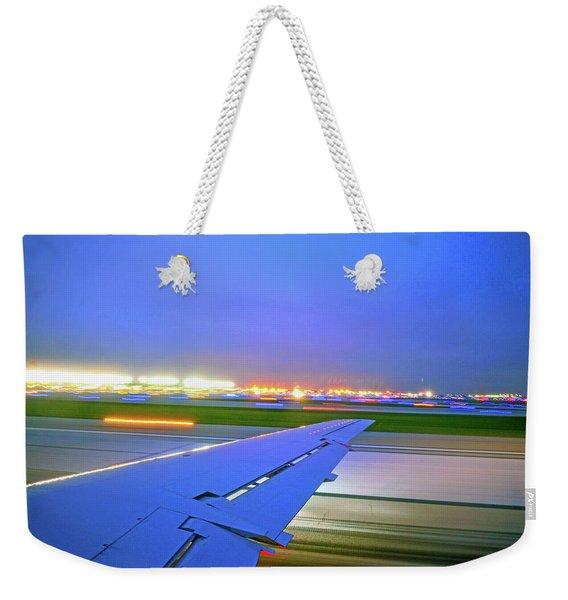 O'hare Night Takeoff Weekender Tote Bag