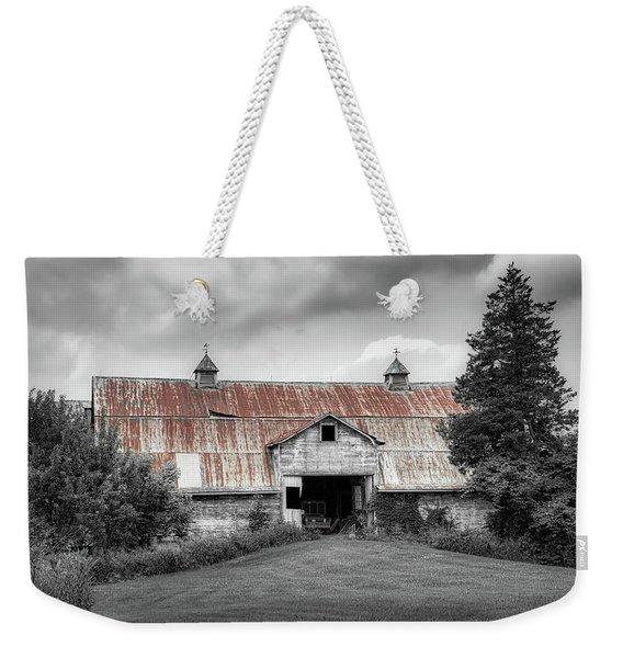 Ohio Barn In Black And White Weekender Tote Bag