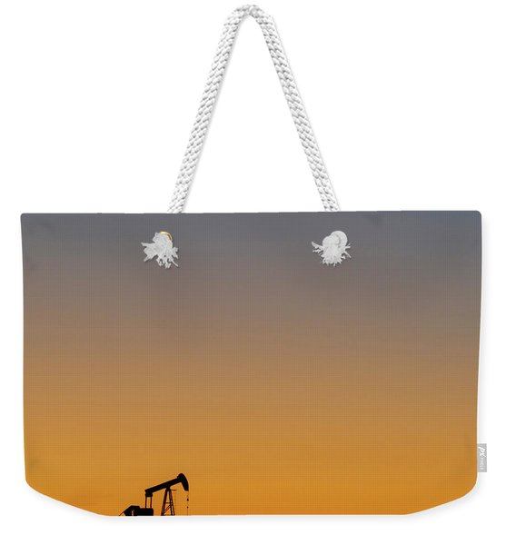 Weekender Tote Bag featuring the photograph Oil Pump After Sunset 02 by Rob Graham