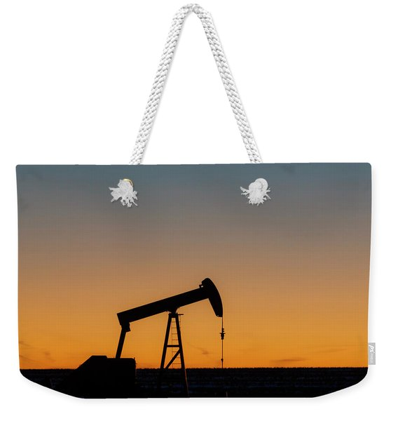 Weekender Tote Bag featuring the photograph Oil Pump After Sunset 03 by Rob Graham