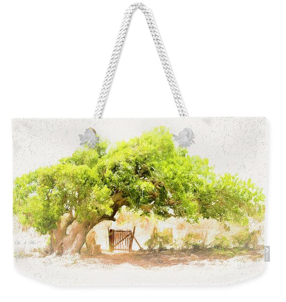 Old Leaning Tree At Sandy Hill  Anguilla Weekender Tote Bag