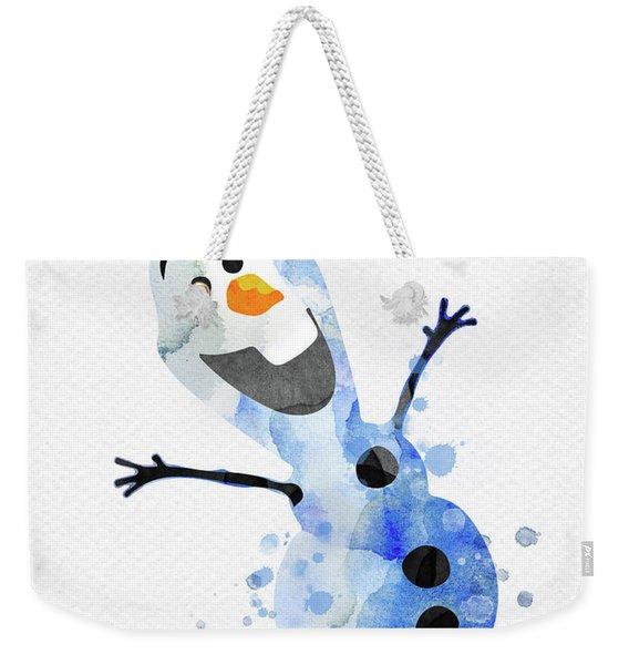 Olaf Watercolor Weekender Tote Bag
