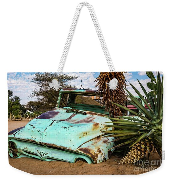 Old And Abandoned Car 2 In Solitaire, Namibia Weekender Tote Bag