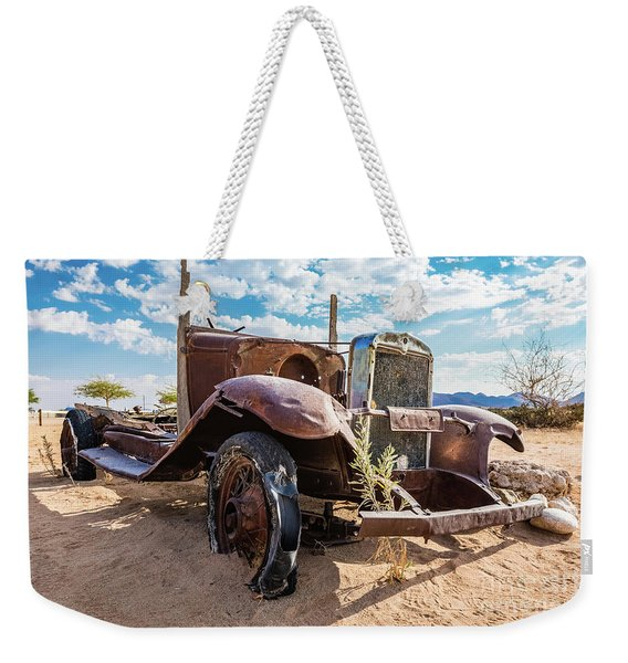 Old And Abandoned Car 3 In Solitaire, Namibia Weekender Tote Bag