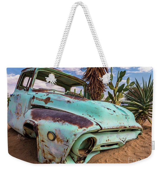 Old And Abandoned Car 7 In Solitaire, Namibia Weekender Tote Bag