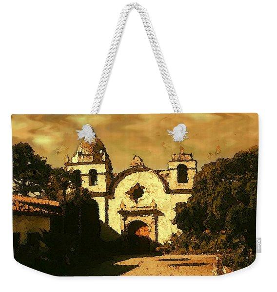 Old Carmel Mission - Watercolor Painting Weekender Tote Bag